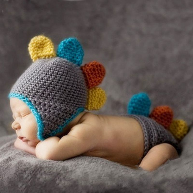 Children's Photography Clothing Infant Hand-knitted Wool Clothing Cartoon Children's Clothing Newborn Photography Props  CHD1014