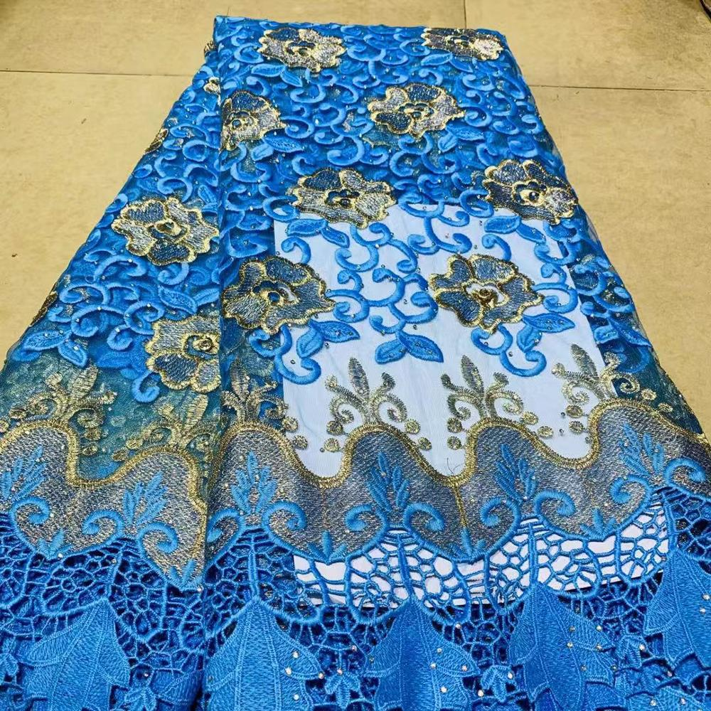 Latest  African Nigerian Tulle French Swiss Lace 2019 Net Beaded Lace Fabric For Nigerian Wedding Embroidery African Lace Fabric