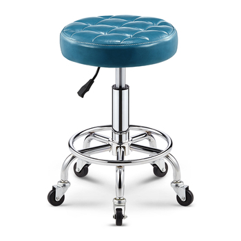 Beauty Stool Barber Shop Hairdressing Manicure Stool Pulley Work Chair Rotary Lifting Backrest Master Stool Bar Chair