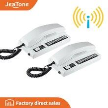 JeaTone новый 2.4 ГГц беспроводная подзаряжается аудио домофон домофон домофон безопасных аппаратов для домашнего, склад, офис