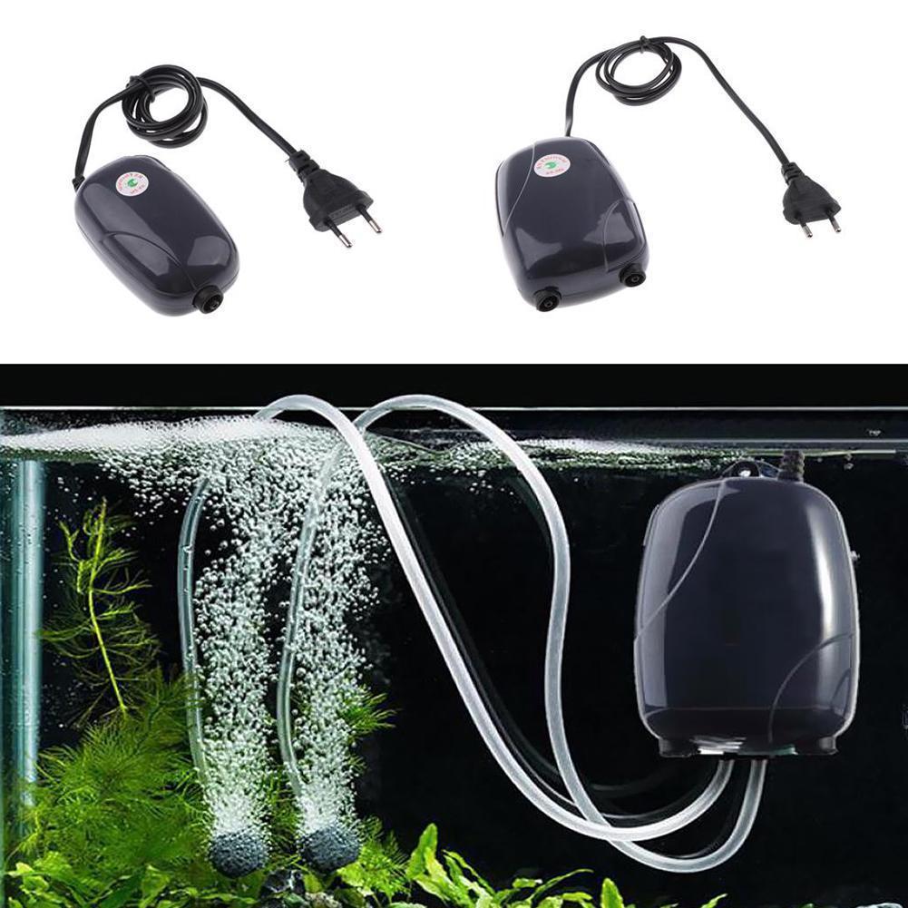 New 3W Energy Efficient Aquarium Oxygen Fish Air Tank Diffuser Pollution Without Quiet Ultra Pump Pump B1A2