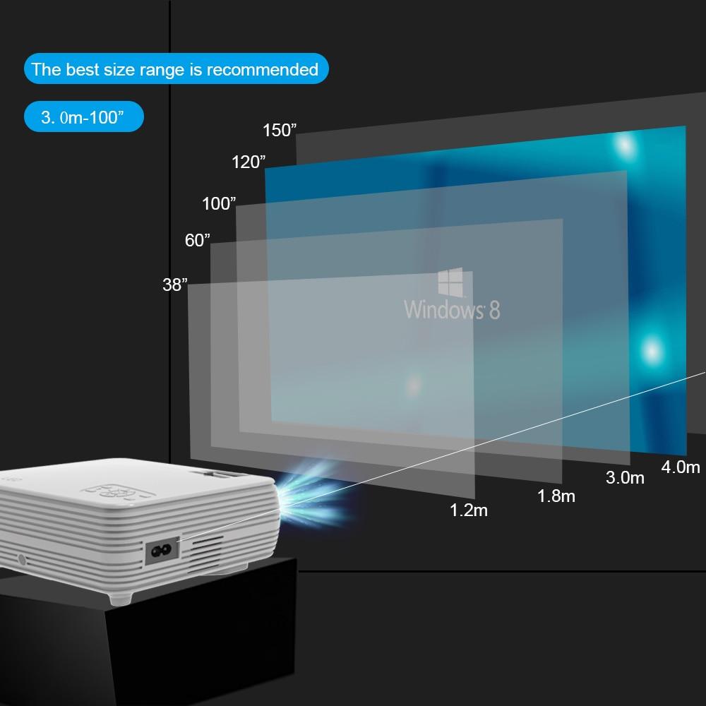 Puissant MINI projecteur X5 + 1280*720P Proyector 4K Full HD 2600 lumen WIFI Proyector Beamer Home Cinema en option Version Android - 3