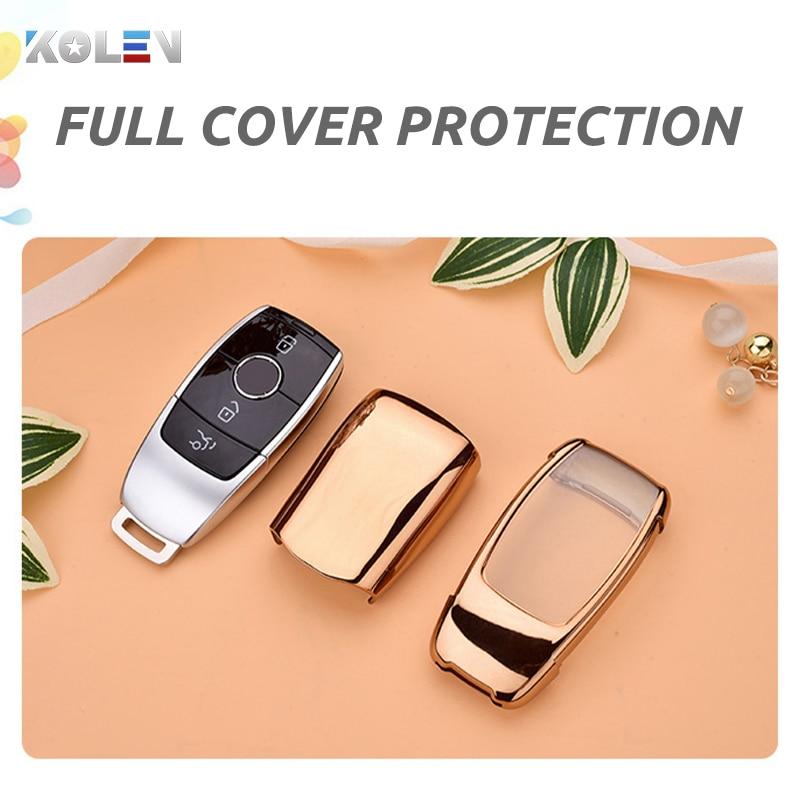 lowest price TPU PC Car Remote Key Case Cover Fob For Mercedes Benz E S Class 2017 2018 A220 W213 E200 E300 E220 E63S GLE 350 E43 4MATIC AMG