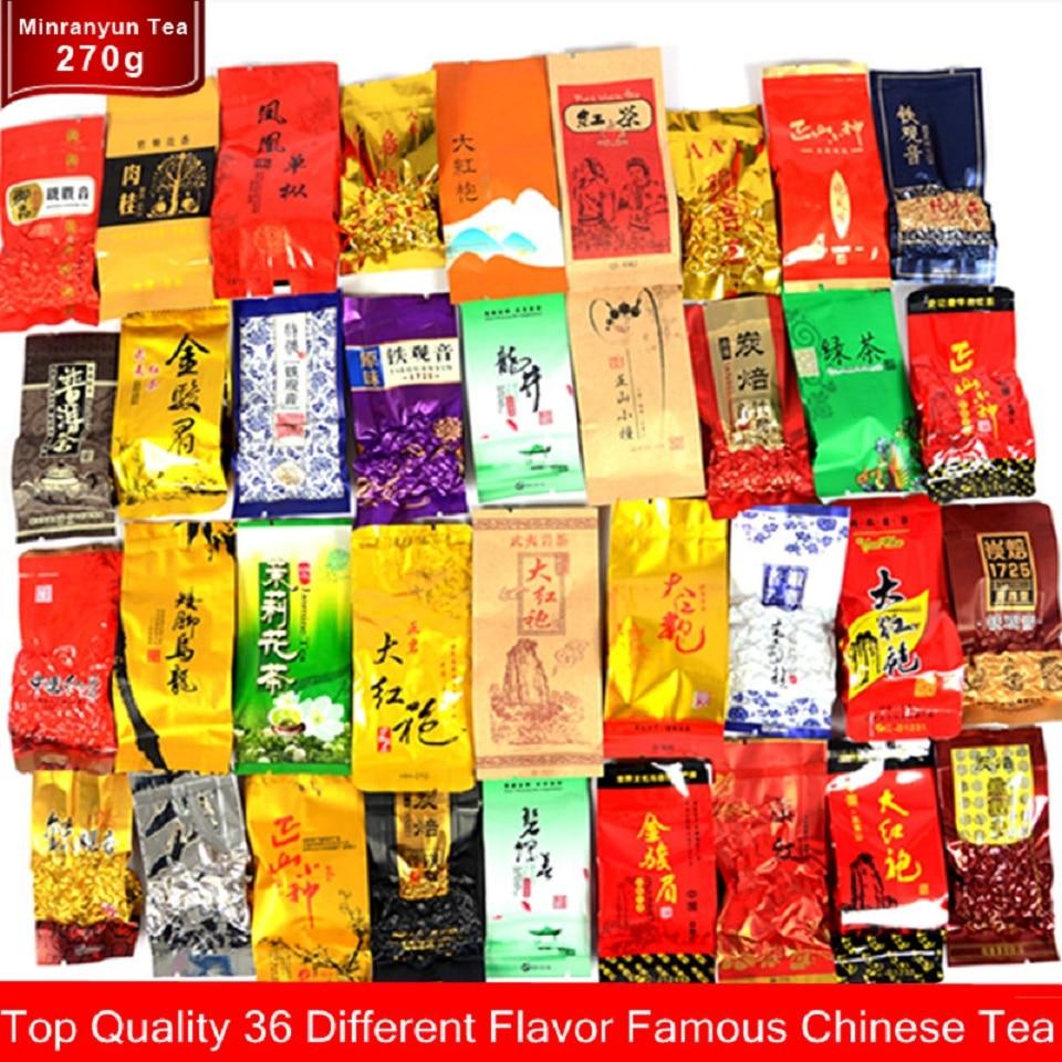 36 Different Tea Including Oolong Pu-erh Black Green Herbal Flower Tea Gift 250g Chinese Premium Quality Tea