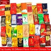 36 chá diferente incluindo oolong pu erh preto verde herbal flor chá presente 250g chinês premium qualidade chá|Bules| |  -