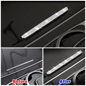 Image 2 - For Mercedes Benz C Class W205 2015 2019 Central Console Water Cup Holder Cover Button Switch Trim Crystal Diamond Decal