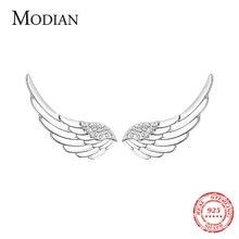 Modian натуральная 100% 925 стерлингового серебра Крылья прозрачные
