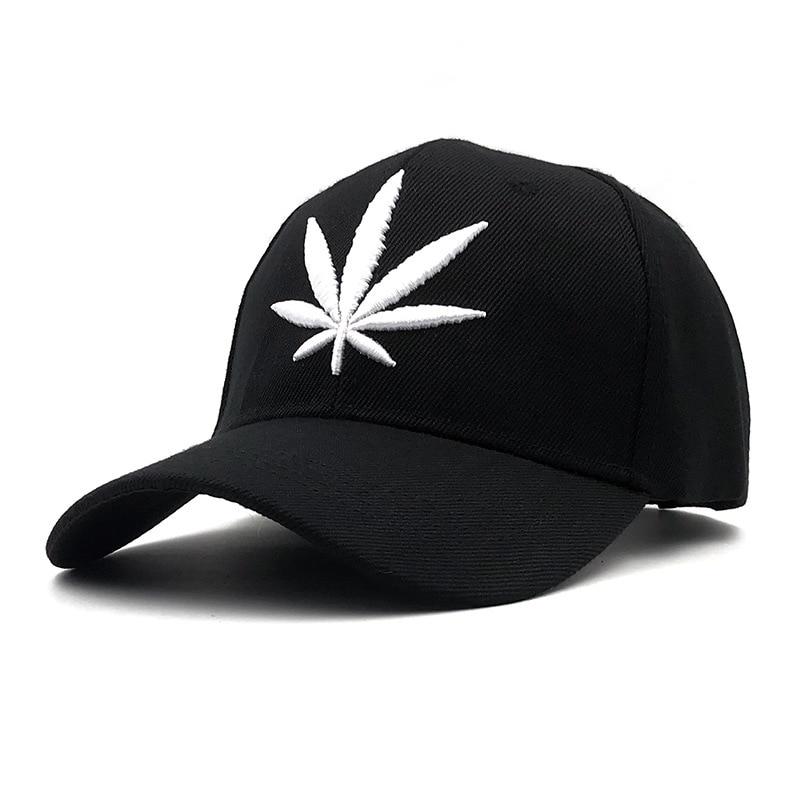LA New Men Creative Maple Hemp Leaf Embroidery Baseball Hat Avoid Outdoor Sun Hot Women Best Adjustable Travel Baseball Cap