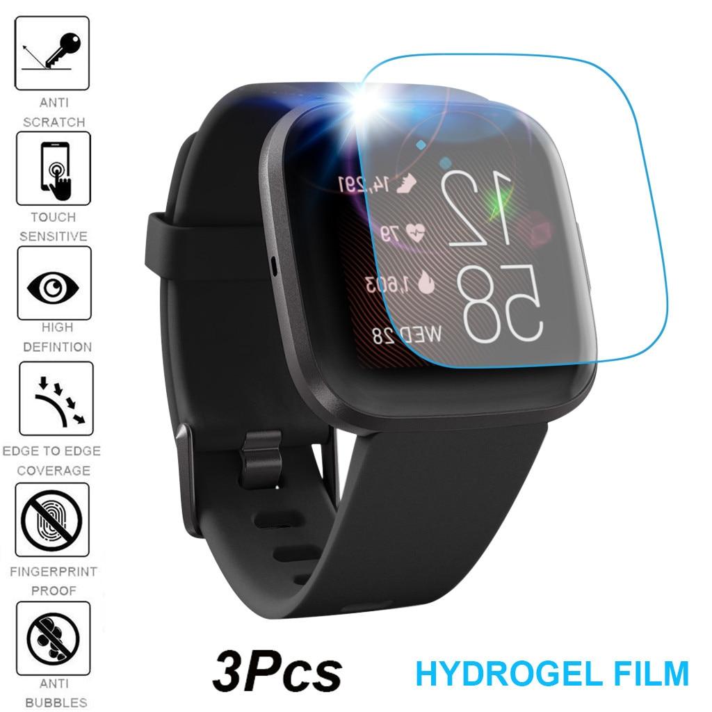 Hydrogel Screen Protector 2019 für Fitbit Versa 2 Smart Uhr 1Pack 3Pack Weichen Bildschirm Display-schutzfolie Film sport 19Sep