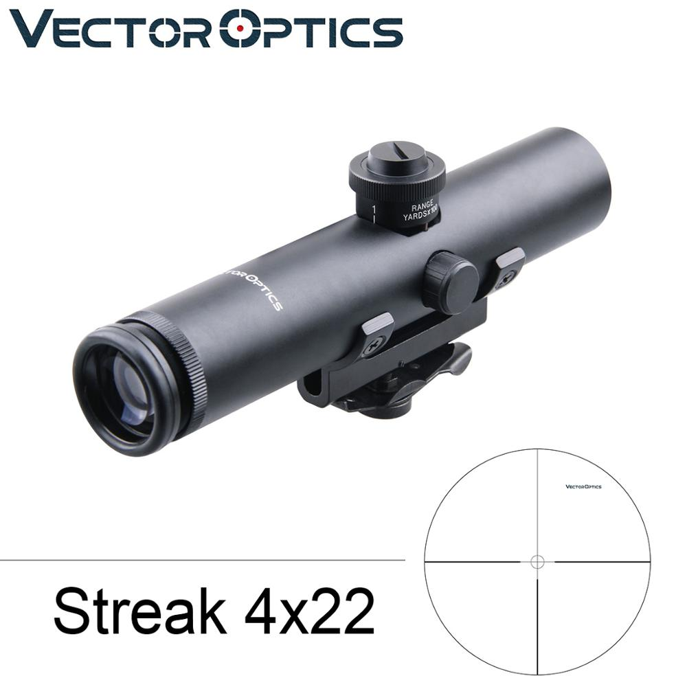 Vector Optics Tactical 4x22 Carry Handle .223  Rifle Scope Shock Proof Electro Sight