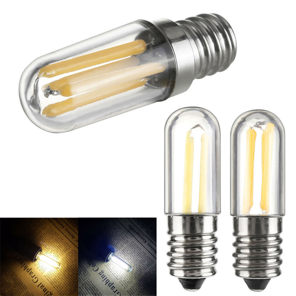Mini E14 E12 LED Fridge Freezer Filament Light COB Dimmable Bulbs 1W 2W 4W Lamp Cold / Warm White 110V 220V
