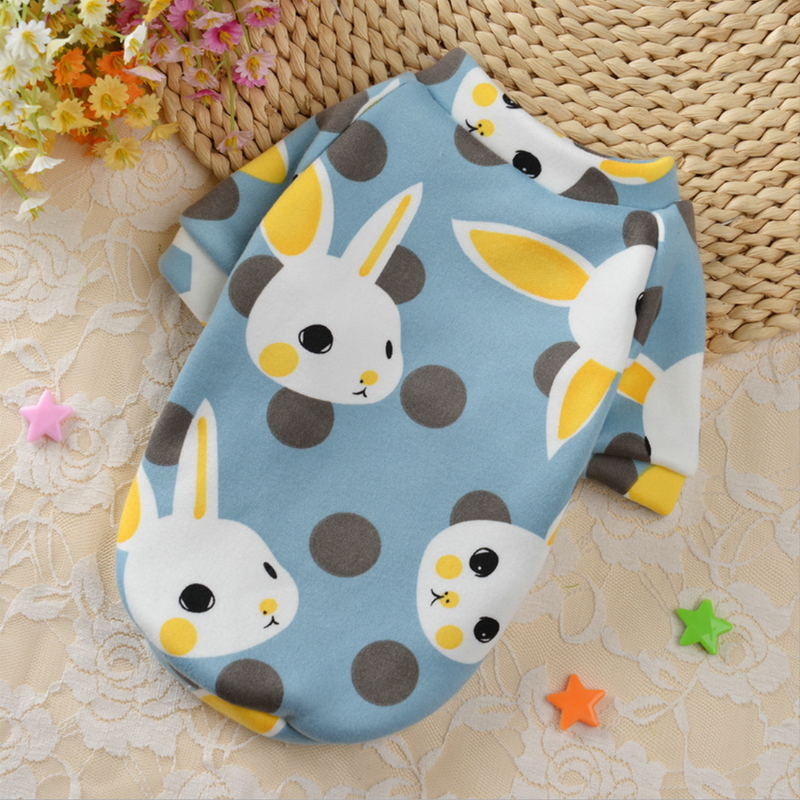Cute Print Small Dog Hoodie Coat Winter Warm Pet Clothes for Chihuahua Shih Tzu Sweatshirt Puppy Cat Pullover Dogs Pets Clothing 4