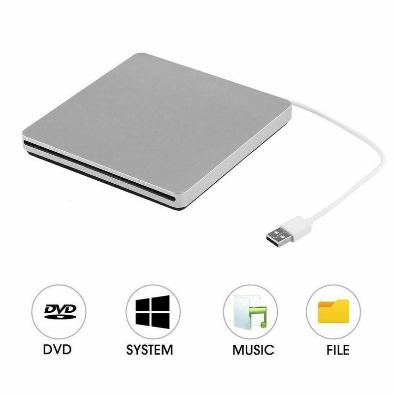 USB 2.0 External Slot DVD CD RW Hard Drive Disk Burner Optical Bay Player for Macbook Pro Air Laptop Computer PC image