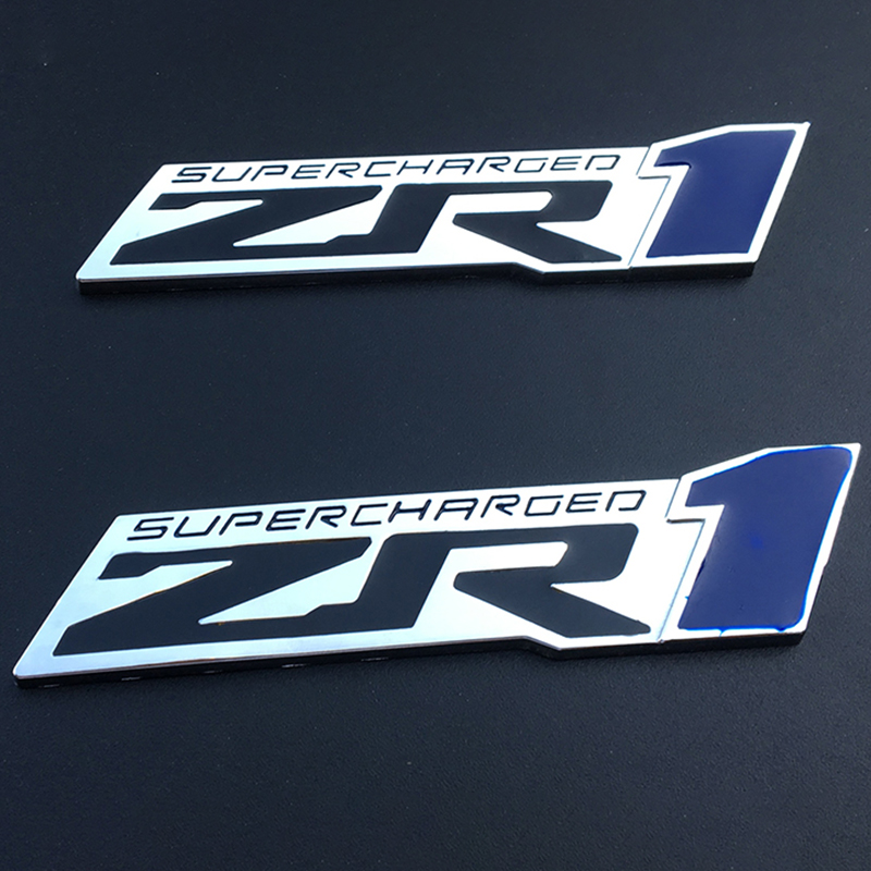 3D Metal ZR1 ZL1 Logo Sticker Emblem Badge Front Grille Decals Car Styling for Chevrolet Camaro Aveo Trax Lacetti Cruze Captiva