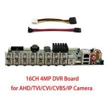 Xmeye 4MP 16CH DVR плата CCTV рекордер 1080P 960P 720P Гибридный DVR для аналогового AHD CVI TVI IP Onvif P2P видеонаблюдения