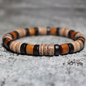 Image 5 - Noter Vintage Wenge Wood Bracelet Men Boy Minimalist 2 Styles Yoga Braslet Prayer Jewelry Accessories Male Charm Brazalete Gift