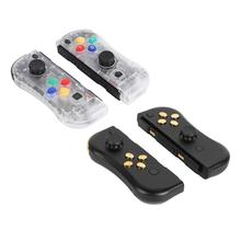 ALLOYSEED 2pcs Left Right Wireless Bluetooth Controller Gamepad Handle Transparent 3D Calibration Fit for Nintend Switch Joy-con