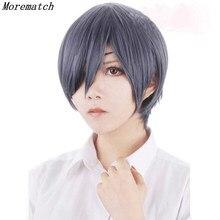 Morematch Anime Black Butler Kuroshitsuji Ciel Phantomhive Wigs Grey Blue Heat Resistant Synthetic Hair Cosplay Wig недорого