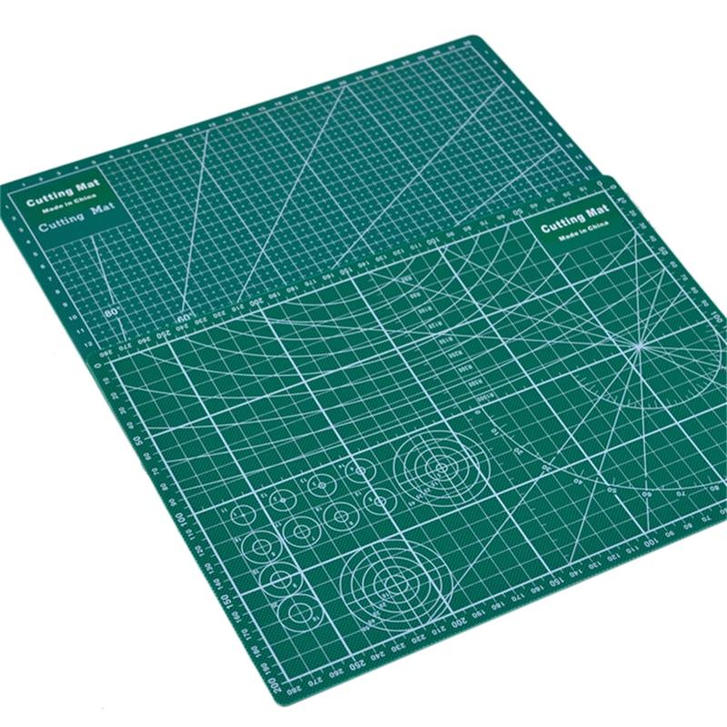 Double Sided Cutting Mat A4 Durable Cut Pad Patchwork Tool Handmade Cutting Plate Dark School Supplies 22x30cm