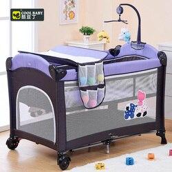 Coolbaby 970 cuna plegable multifuncional, cama de niño, corralito portátil Continental con mosquitera, coctelera para bebé