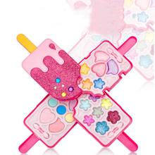 Ice Cream Makeup Cosmetic Eyeshadow Palette Blusher Lip Gloss Set for Girls Princess Pretend Play Toy QX2D(China)