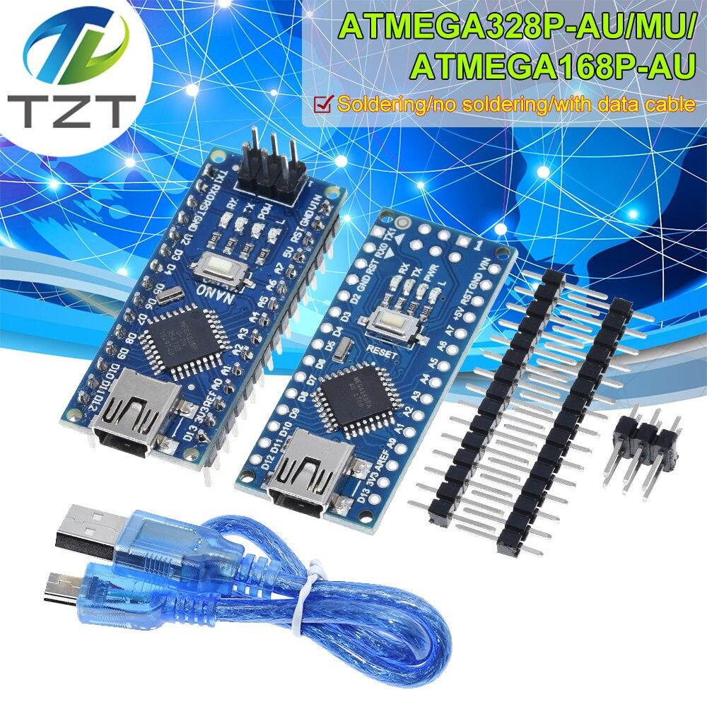 Nano Mini USB с Загрузчиком совместимый контроллер Nano 3,0 Для arduino CH340 USB драйвер 16 МГц Nano v3.0 ATMEGA328P/168P