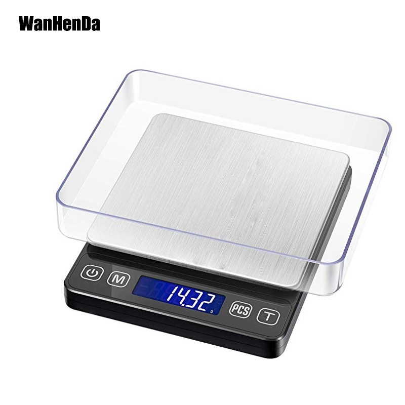 2019 new Touch display Digital Pocket Scale, 500g/0.01g Kitchen Food Scale, Mini Medicine Jewelry Scale with Backlit LCD Display