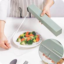 Preservative Film Cutter Kitchen Tool Accessories ABS Good Useful Fruit Food Fresh Keeping Plastic Cling Wrap Dispenser Cocina(China)