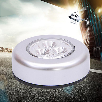 LED under Cabinet Light Indoor Tap Remote Dimmable Battery Book Table Night Lamp for Corridor Stair Kitchen loft Lighting image