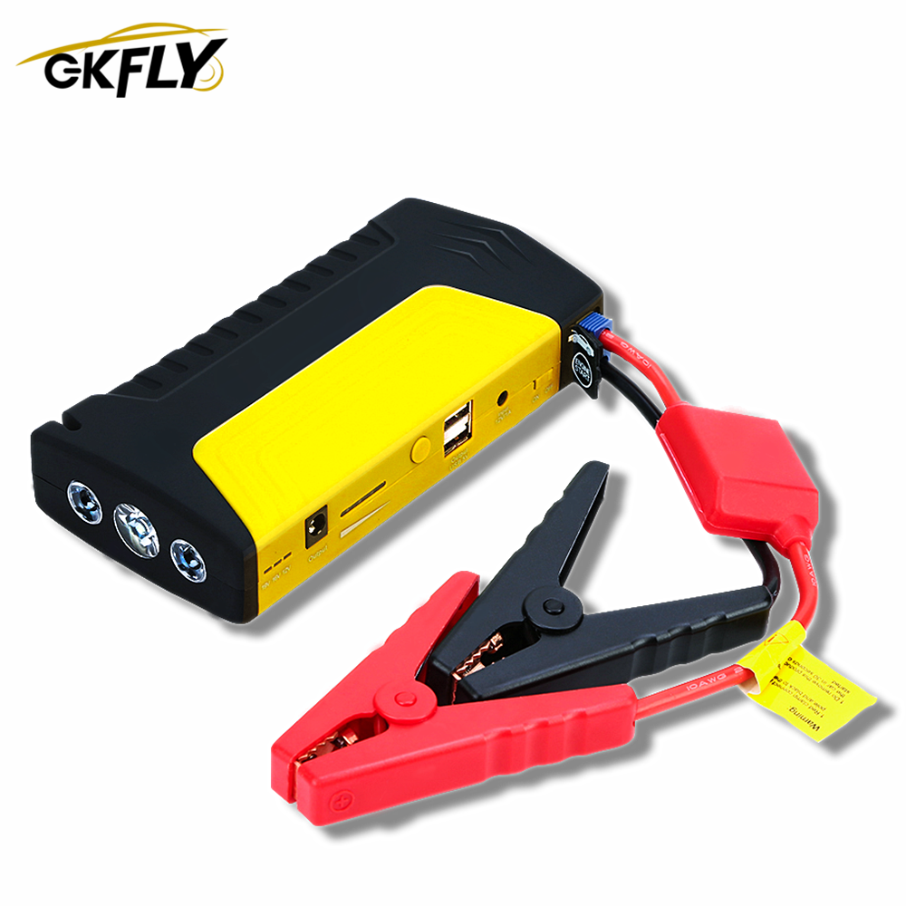 GKFLY New Car Jump Starter 12V 600A Portable Starter Power Bank Charger for Car Battery Booster Buster Starting Device Diesel CE