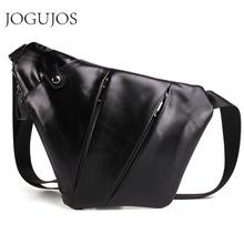 JOGUJOS Casual Crossbody Bag New Arrival Genuine Leather Men Messenger Fashion Mens Handbag Chest bag Male Shoulder