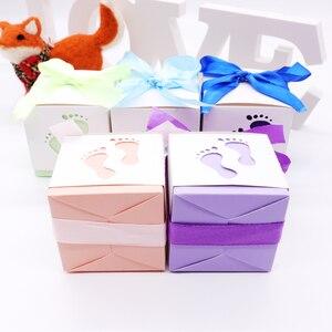 Image 5 - 10 Stks/partij Dozen Snoep Baby Shower Party Cartoon Gift Bag Kids Party Gunsten Snoep Chocolade Tas Verjaardag Bruiloft Decoratie