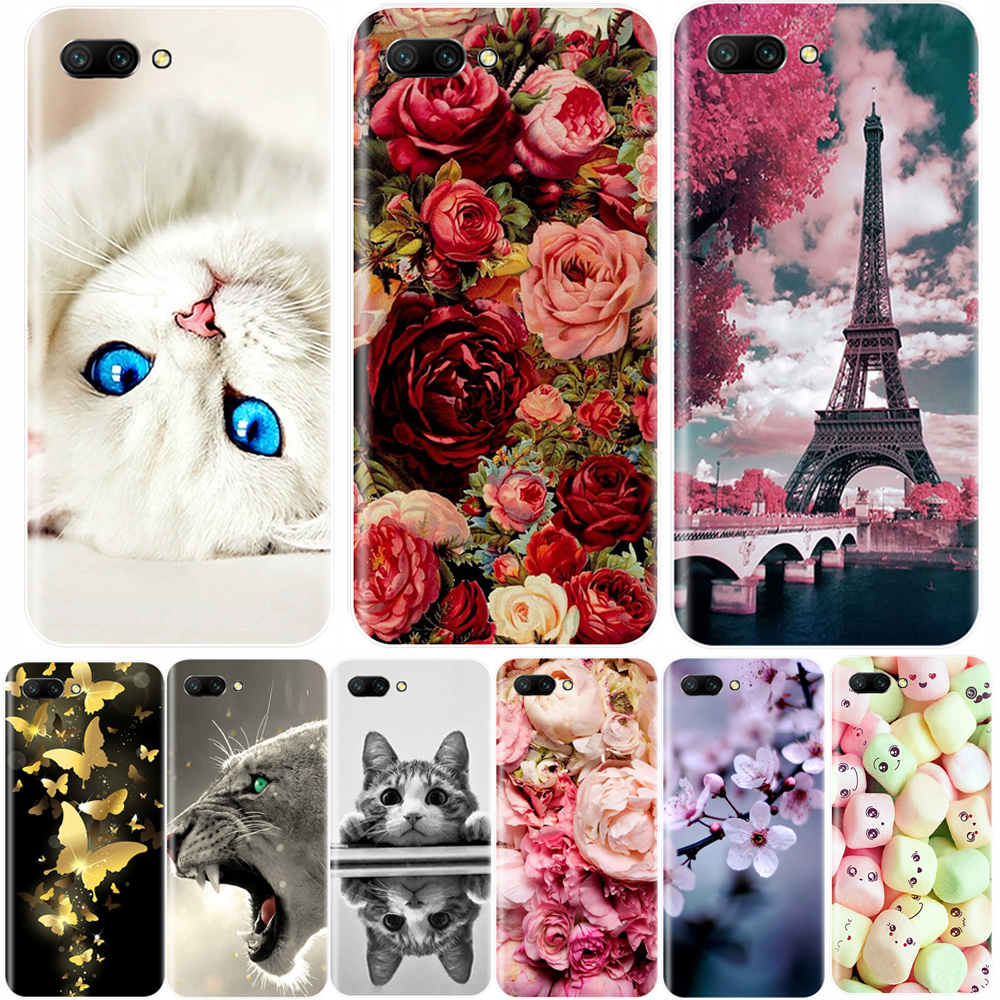 Phone Case For <font><b>Huawei</b></font> <font><b>Honor</b></font> 10 <font><b>9</b></font> 8 7 <font><b>Lite</b></font> Soft Silicone <font><b>TPU</b></font> Cute Cat Painted Back Cover For <font><b>Huawei</b></font> <font><b>Honor</b></font> 7A 7C 7S 7X 8 Pro Case image