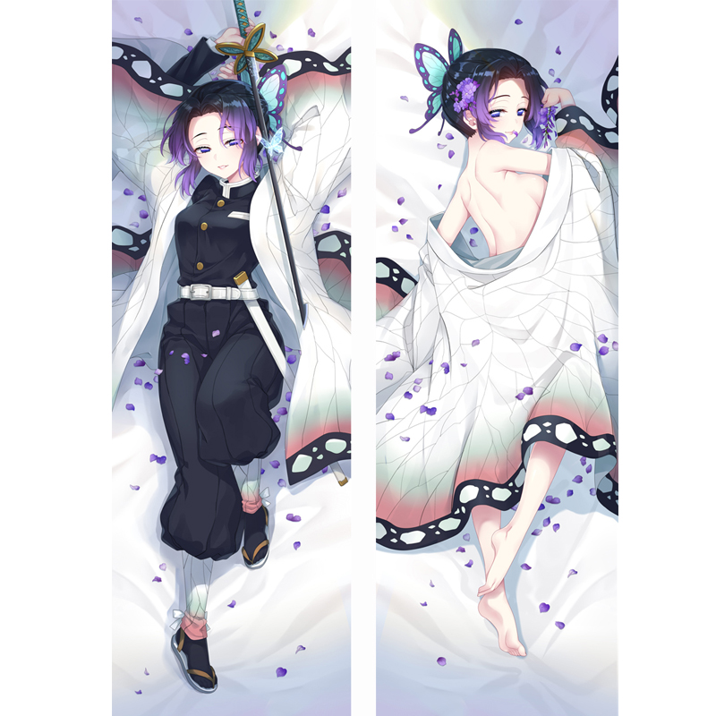 Cute Demon Slayer Anime Cosplay Body Pillow Case Kimetsu No Yaiba Kochou Shinobu Dakimakura Cover Hugging Otaku Lolita Girl Gift