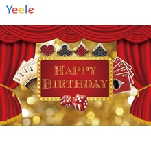 Yeele Birthday Party Decor Poker Casino Dice Photography Backgrounds Personalized Text Photographic Backdrops For Photo Studio