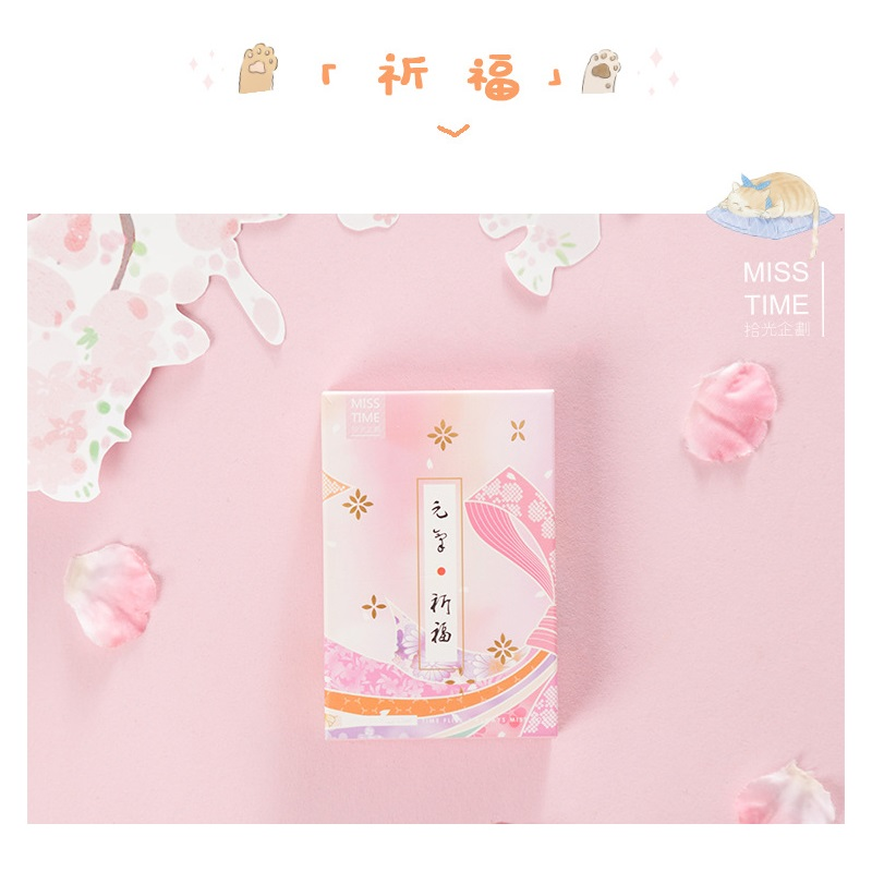 28 Sheets/Set Japanese Blessing Prayer Series Lomo Card Mini Postcard Message Card Gift Greeting Card