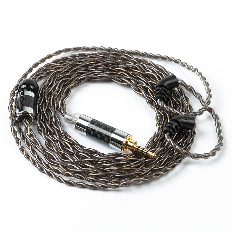 AK Yinyoo 4 Core Silver Plated Cable 2.5/3.5/4.4mm Balanced Cable With 2 Pin Only For BLON BL-03 BL 03 BLON BL-05 BL 05