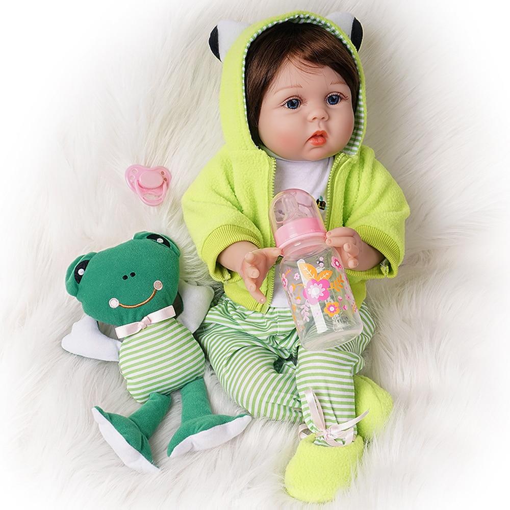 55cm reborn bebe boneca 2 outfits recem nascido 01