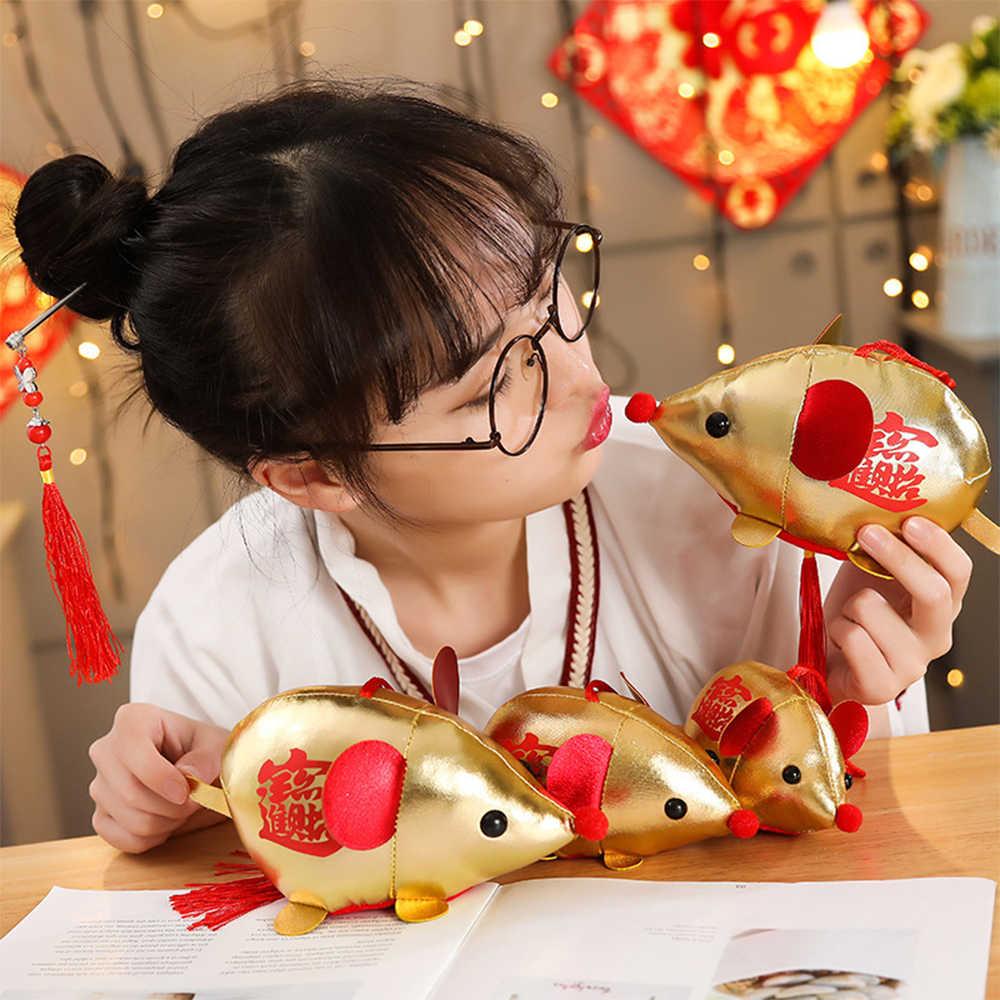 2020 decorações de natal presentes diy animais tipo recheado brinquedo de pelúcia rato chinês ano novo zodíaco brinquedos presentes