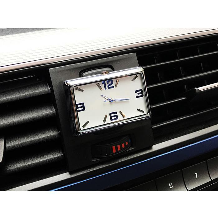 Car Quartz Watch Interior Stick-On Clock Vehicle Dashboard Time Display Clock