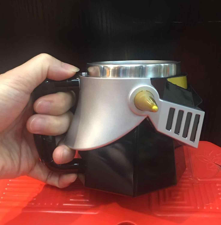 Prêt joueur un créatif MAZINGER Z Transformation Robot 420ml PC + acier inoxydable tasses tasse bureau eau tasse