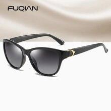 Женские солнцезащитные очки кошачий глаз fuqian поляризационные