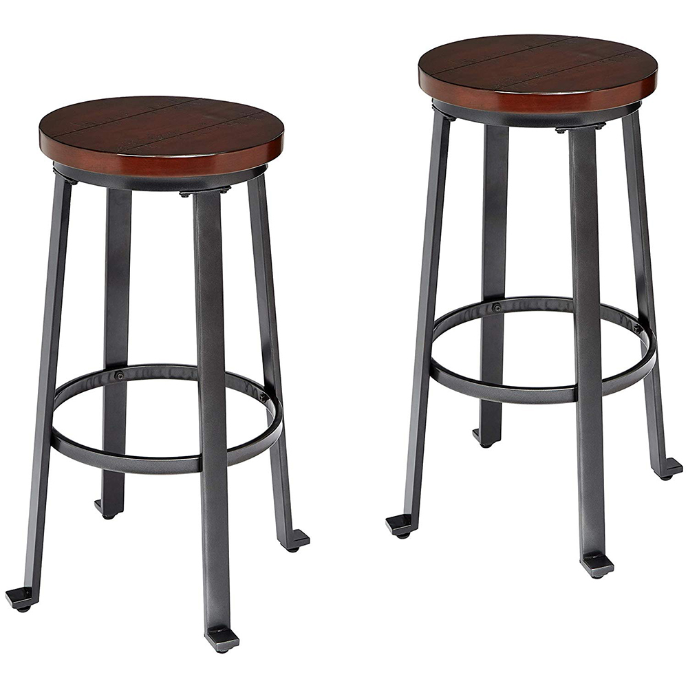 2pcs Bar Seat Pub Wood + Metal Swivel Kitchen Stools Adjustable Chair Dining Counter Fast Shipping 30 Inch High Bar Stool