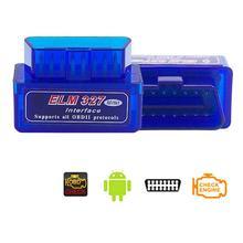 цена на Universal Mini ELM327 Car Diagnostic Scanner Tools Bluetooth V2.1 OBD2 Wireless OBD II Auto Scan Tool Code Reader for Android