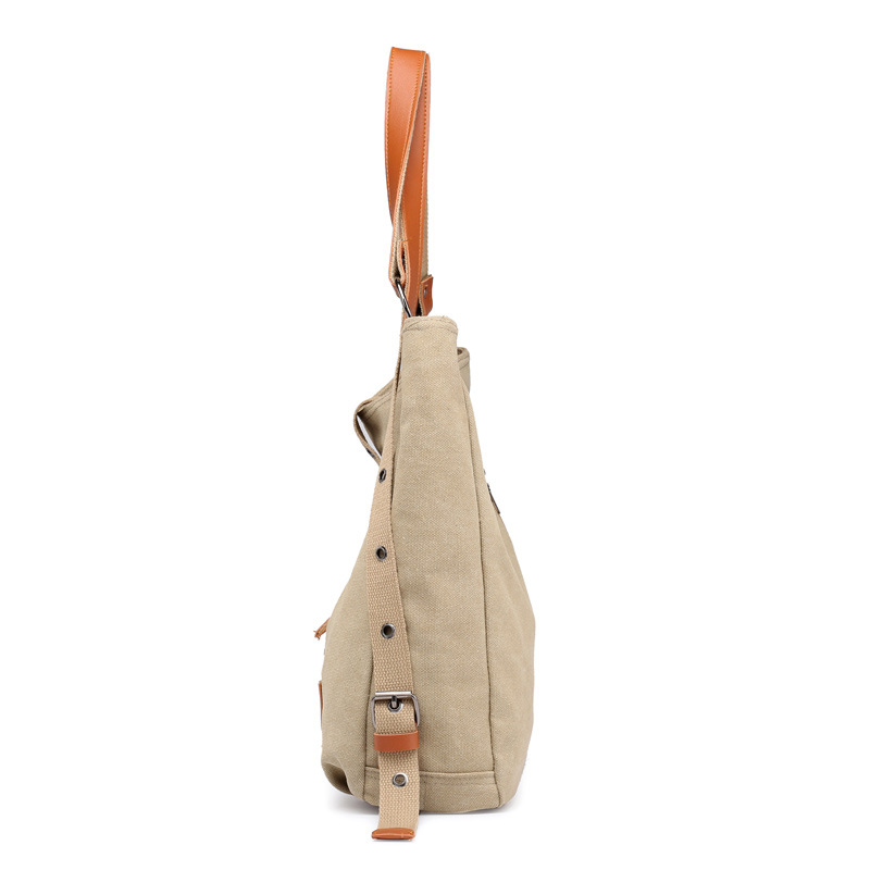 Canvas Women Shoulder Bags High Quality Multifunction Women Back Pack For Students School Travel Bags Large Capacity 4