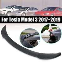 Rear Spoiler Wing Carbon Fiber Gloss Black Red Car Trunk Boot Lip Wing Spoiler for Tesla Model 3 2017 2019 Car Accessories ABS