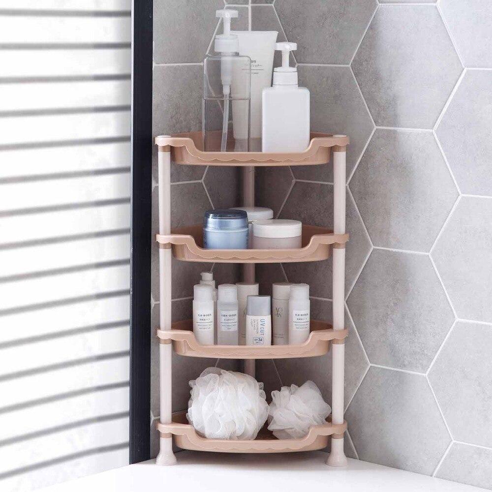 אמבטיה מדף ארגונית פינת אחסון מדף בעל 4/3 שכבה עצמי מקלחת Caddy מטבח תבלינים תיבול בקבוקי ארגונית