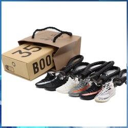 Alta qualidade 3d artesanal boost 350 v2 mini tênis chaveiro sapatos pequenos modelo aj chaveiro moda jóias