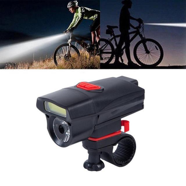 Led + cob dupla luz pérolas frente guiador lâmpada à prova dwaterproof água bicicleta luz ciclismo lanterna ao ar livre acessórios de ciclismo 4