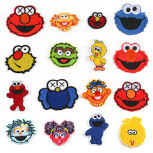 America Kids Classic Cartoon Sesame Street Elmo Oscar The Grouch Big Bird Abby Cadabby Funny Iron on Patches for Children(China)